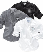GUESS Boys' Core Roll-Up Sleeve Shirt