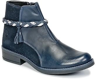 Citrouille et Compagnie HOCEA girls's Mid Boots in Blue