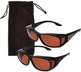 Foster Grant Polar Shield Set of 2 Fits Over Sunglasses with Microfiber Case