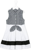 Lapin House - checked buttoned dress - kids - Cotton/Spandex/Elastane - 4 yrs