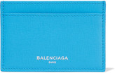 Balenciaga Textured-leather Cardholder - Blue