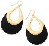 Thalia Sodi Gold-Tone Jet Black Teardrop Earrings, Only at Macy's