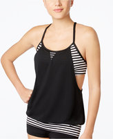 Nike Laser Stripe Layered Tankini Top Women's Swimsuit
