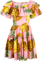 Dolce & Gabbana pineapple print dress - women - Cotton - 42