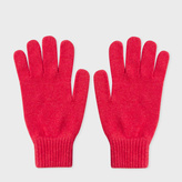 Paul Smith Men's Red Cashmere Gloves