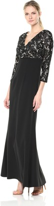 JS Collections Women's 3/4 Sleeve Lace Gown