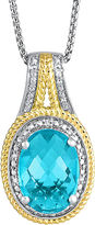 JCPenney FINE JEWELRY LIMITED QUANTITIES Lab-Created Blue Topaz & Diamond-Accent Pendant