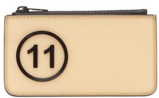 Maison Margiela Logo-embossed Zipped Rubber Cardholder - Mens - Brown Multi