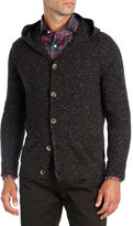Isaia Hooded Donegal Cashmere Cardigan