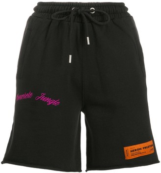 Heron Preston high rise track shorts