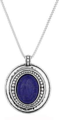 Or Paz Sterling Silver Beaded Lapis Pendant w/Chain