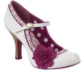Ruby Shoo White & Fuchsia Poppy Pump
