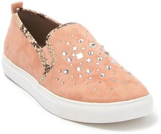 Donald J Pliner Sanya Slip-On Studded Suede Slip-On Sneaker