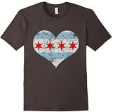 Vintage Flag of Chicago Heart Shirt