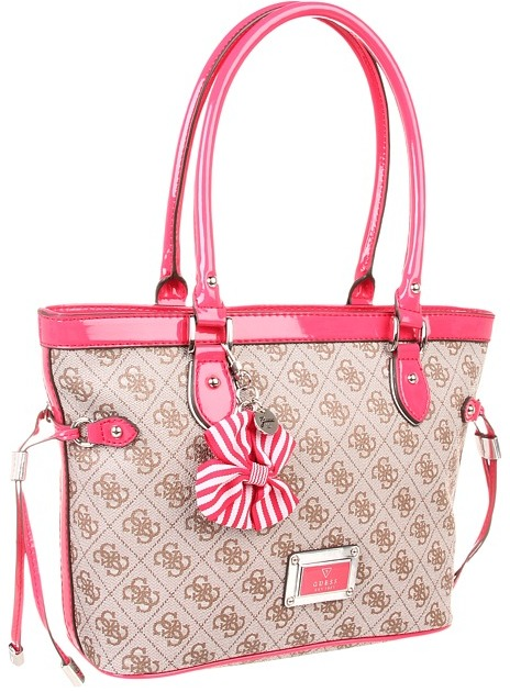 GUESS Skya Small Carryall (Cherry) - Bags and Luggage