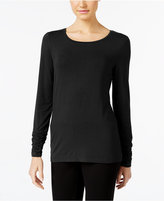 Alfani Petite Long-Sleeve Ruched Top, Only at Macy's