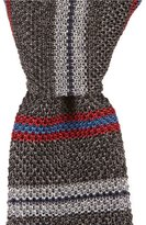 Daniel Cremieux Striped Knit Narrow Silk Tie