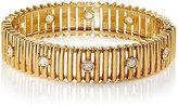 Mahnaz Collection Vintage Women's Vintage White Diamond & Yellow Gold Bracelet-Gold