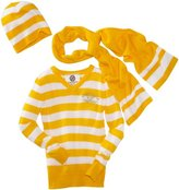 Southpole Big Girls' Threefer Pullover V-neck Sweater With Beanie Hat And Scarf Set