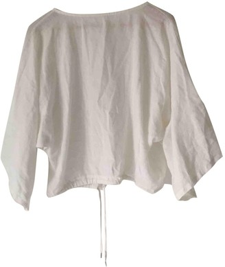 Ohne Titel White Linen Top for Women