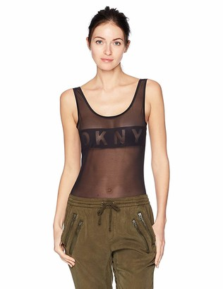DKNY Women's Blocked Logo Bodysuit
