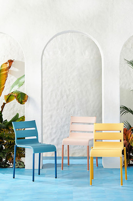 Anthropologie Barcelonette Indoor/Outdoor Dining Chair By in Blue Size ALL