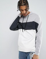 Asos Oversized Hoodie With Cut &sew Panels