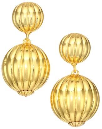 Rebecca De Ravenel Charming Goldplated Clip-On Drop Earrings