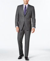 Andrew Marc Men's Classic Fit Gray Pinstripe Suit