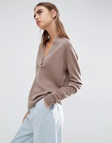 Asos 100% Cashmere Deep V-Neck Sweater