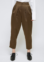 Dusan Tobacco Pleated Pant