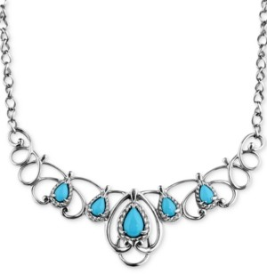 Carolyn Pollack Turquoise Statement Necklace (2-1/6 ct. t.w.) in Sterling Silver