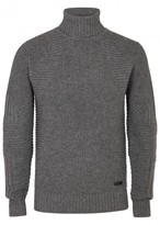 Belstaff Littlehurst Grey Ribbed Wool Blend Jumper