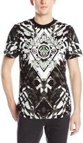 Southpole Men's High Definition Foil and Screen Print T-Shirt with Crystal Patterns
