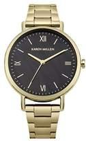 Karen Millen Women's Quartz and Stainless Steel Casual Watch, Color:Gold-Toned (Model: KM159BGM)