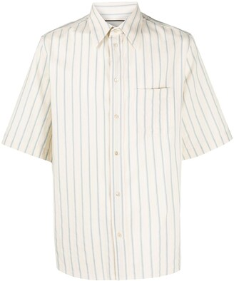 Gucci Striped Short-Sleeve Shirt