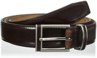 Alexander Julian Men's Big-Tall Leather In Lay Buckle and Loop Belt