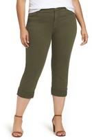 NYDJ Plus Size Women's Dayla Colored Wide Cuff Capri Jeans