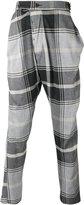 Vivienne Westwood Man - checked drop-crotch trousers - men - Cotton/Polyamide/Spandex/Elastane/Viscose - 46