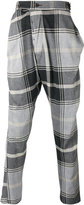 Vivienne Westwood Man - checked drop-crotch trousers - men - Cotton/Polyamide/Spandex/Elastane/Viscose - 48