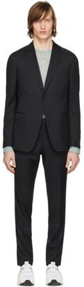 Ermenegildo Zegna Black Wool Classic Suit