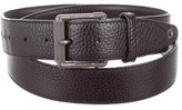 Belstaff Grain Leather Logo Belt