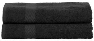 Superior 100-Percent Cotton Eco-Friendly 2-Piece Bath Sheet Set - Charcoal