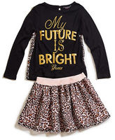 GUESS Harper Tee and Skirt Set (12M-4T)