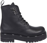 Fendi Branded Lace-up Boots