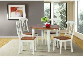 Shelley Alcott Hill Dining Table Alcott Hill Finish: Oak / White