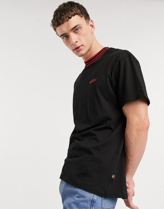 Kickers rib neck t-shirt with small logo in black