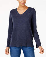 Style&Co. Style & Co Cotton High-Low Sweater, Created for Macy's