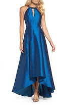 Adrianna Papell Women's Beaded Neck Faille Gown