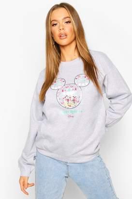 boohoo Disney Happy Holidays Christmas Sweatshirt